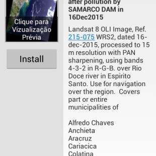 Escolhendo uma imagem sobre a Foz do Rio Doce