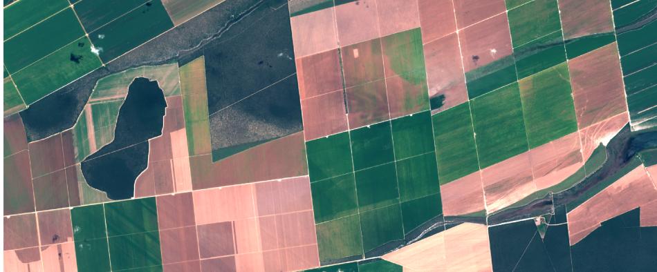 Área agrícola imagenada pelo Sentinel-2, 1:25.000, cores naturais
