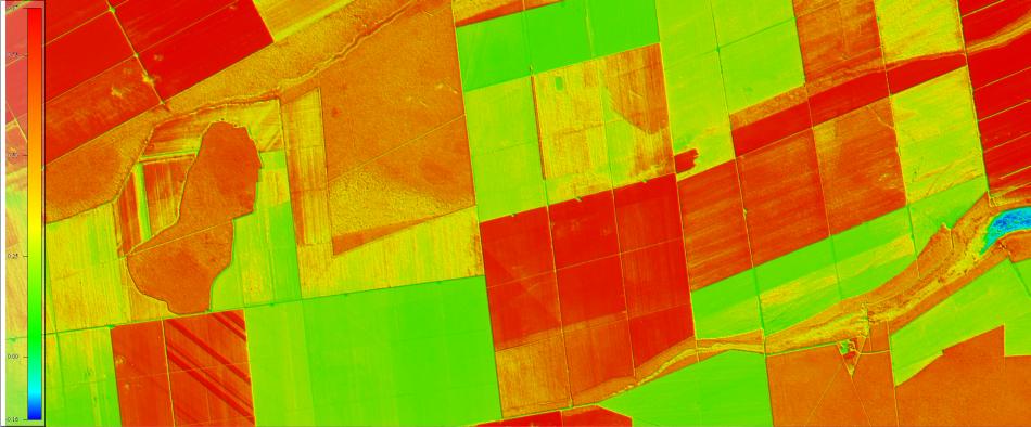 NDVI sobre área rural imagenada pelo Sentinel-2, 1:50.000