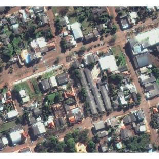 World View 3 PSM, 30 cm colorido de resolução da área urbana de Santo Antônio das Missões - RS