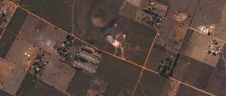 Imagem Kompsat 3A modo PSM, cores naturais, de  40 cm de resolução de uma área rural, escala 1:5.000