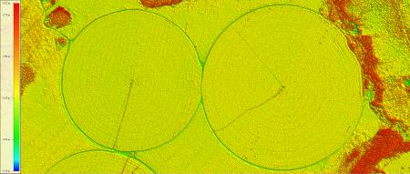 NDVI elaborado a partir de Imagem Kompsat 3A modo MS, de  1,6 m de resolução de uma área rural, escala 1:7.500