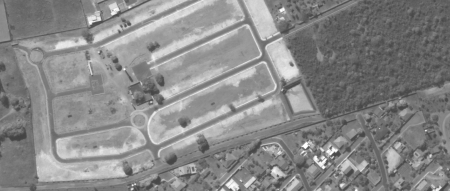 Imagem Kompsat 3A modo PAN, 40 cm de resolução de uma área urbana em desenvolvimento, escala 1:2.000