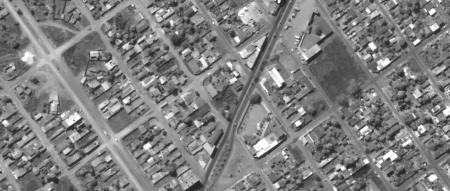 Imagem Kompsat 3A modo PAN, 40 cm de resolução de uma área urbana mixta, escala 1:2.000