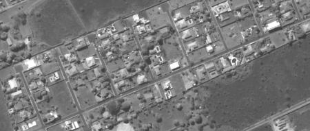 Imagem Kompsat 3A modo PAN, 40 cm de resolução de uma área urbana residencial, escala 1:2.000
