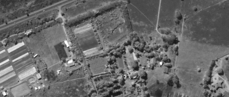 Imagem Kompsat 3A modo PAN, 40 cm de resolução de área rural