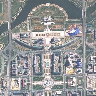 Primeira imagem de Astana, capital do Kasakistão, adquirida pelo KazEOSat-1 no dia 5 de Maio de 2014,  modo PAN, 1 m colorido