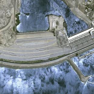 Represa de Aswan no Egito imageado pelo KazEOSat-1