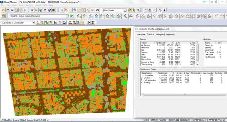 Classificação automática de edificações e vegetação