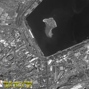 Eros B PAN de 0,70 m de resolução P&B de área do Rio de Janeiro - RJ