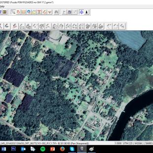 Fusão do PAN e MS realizada pelo Global Mapper.