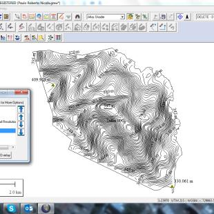 Curvas de Nível elaboradas com SRTM