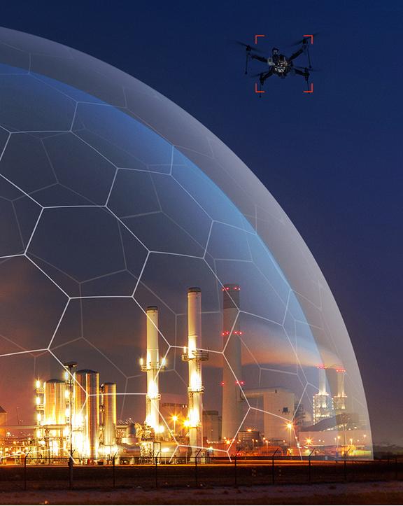Drone Tracker Dome com Indústria
