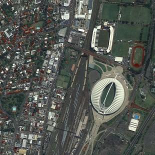 Durban, África do Sul, imageada pelo Triplesat em 2 de Outubro de 2015