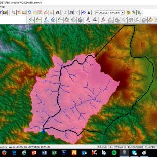 Bacia de contribuição parcial de  Águas Lindas de Goias - GO