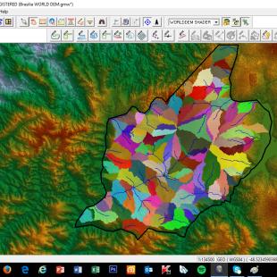 Estudo de bacia hidrográfica do Municipio de Águas Lindas de Goias - GO