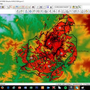 Estudo de intervisibilidade 360 Graus para Telecomunicações de Águas Lindas de Goias - GO