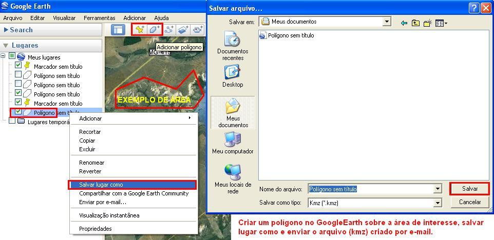 GOOGLE_EARTH  _ como fazer um poligono kmz