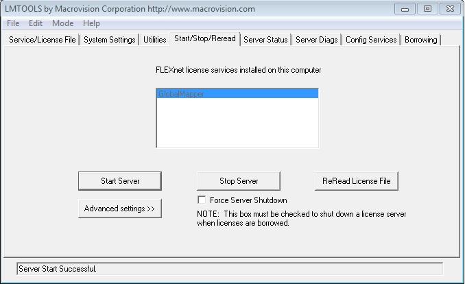 Ilustração 11. Após clicar no botão Start Server