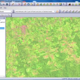 Composição colorida Landsat 30 m, 5-4-3 em R-G-B em área rural no Pará