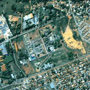 Kompsat 3, PSM, 0,7 m de resolução, área urbana de Cuiabá - MT