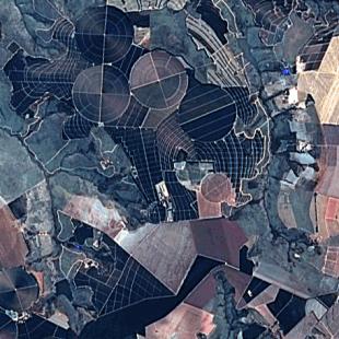 Landsat 8 nas bandas 3-2-1+PAN processamento FuzeGo