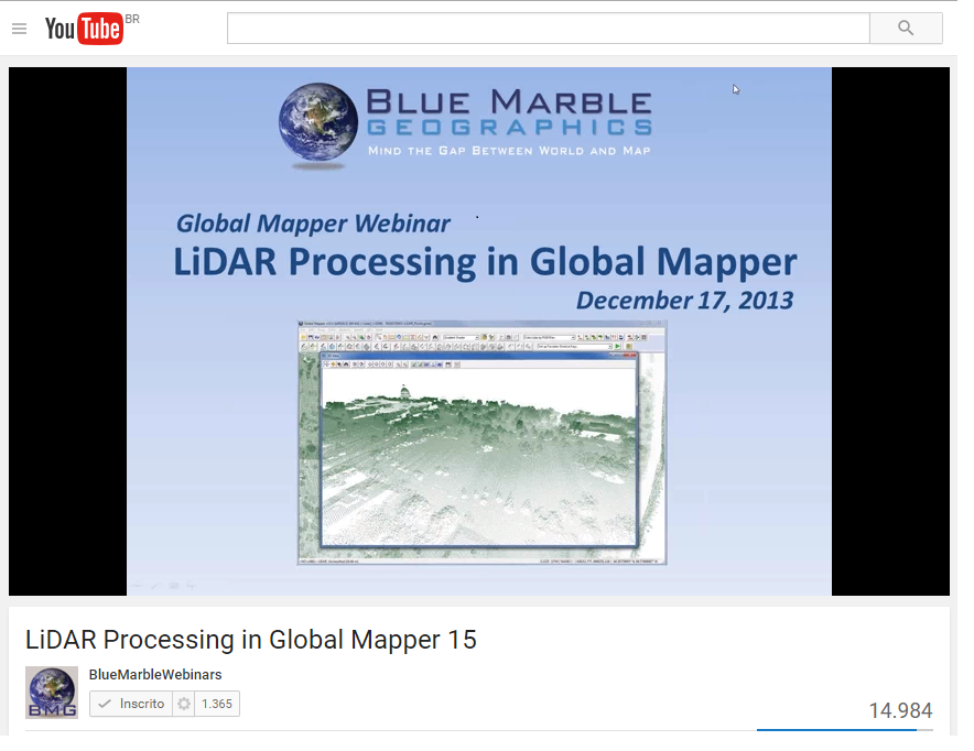Lidar Processing in Global Mapper 2