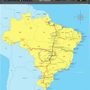 Mapa de Ferrovias da Valec