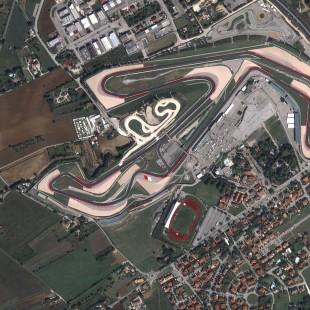 Circuito de Misano, Italia, imageada pelo Triplesat em 29 de agosto de 2015