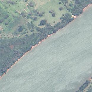 Triplesat 0,80 m de resolução , modo PSM de área rural em MS e Rio Paranapanema
