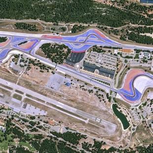 Circuito de corrida automóvel de Paul Ricard, França,  imageado pelo KazEOSat-1.