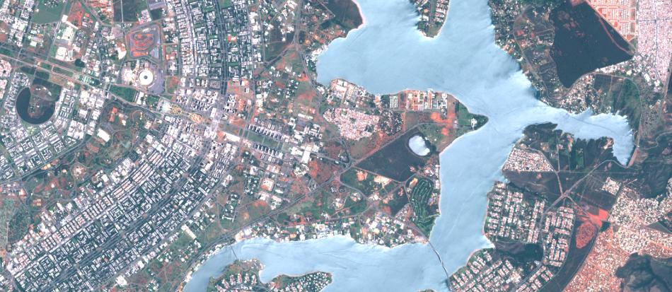 Imagem Sentinel-2 sobre Brasilia - DF, 1;50.000 , 10 m de resolução, cores naturais