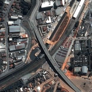 Pleiades PSM 0,50 m de resolução de area urbana ao sul da cidade de São Paulo - SP
