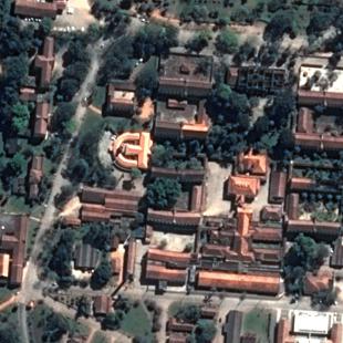 Pleiades PSM 0,50 m de resolução de um conjunto ao sul da cidade de São Paulo - SP