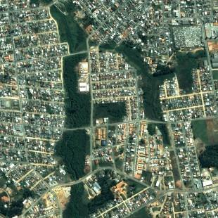 Pleiades 0,50 m de resolução, Cores Naturais, área urbana de Fazenda Rio Grande, PR
