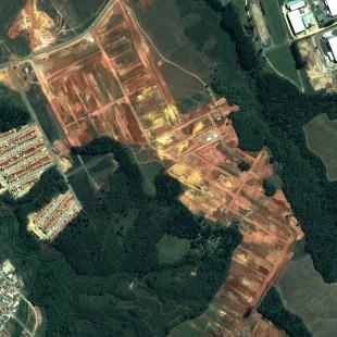 Pleiades 0,50 m de resolução, Cores Naturais, área de novos loteamentos de Fazenda Rio Grande, PR