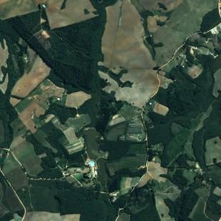 Pleiades 0,50 m de resolução, Cores Naturais, área rural de Fazenda Rio Grande, PR
