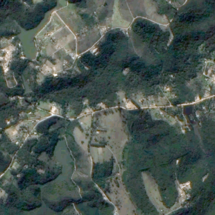 TH-1PSM de 2 m de reolução de área florestal de Sorocaba - SP