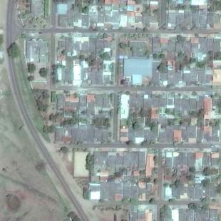 Geoeye PSM de 0,50 m de resolução, area urbana de Camapuã, MS