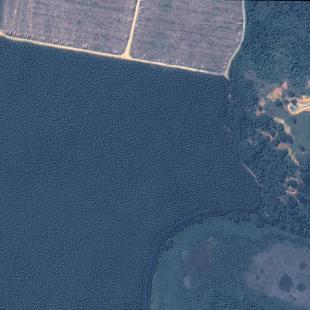 Kompsat 3, PSM, 70 cm de resolução cores naturais,  área florestal em colheita