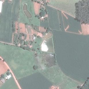 Pleiades PSM 0,50 m cores naturais em área agrícola, Bom Retiro - RS