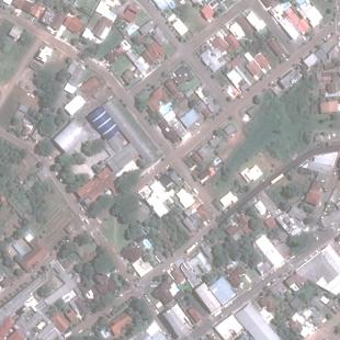 Pleiades PSM 0,50 m cores naturais em área urbana, Bom Retiro - RS