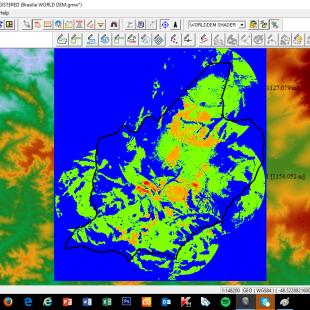 Multiplicidade de recobrimento de visibilidade de Águas Lindas de Goias - GO