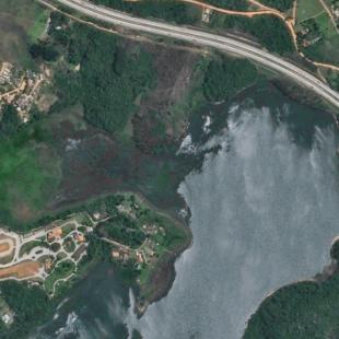 SPOT 6 PSM 1,50 m colorido, Represa Billings e Rodoanel de São Paulo, SP