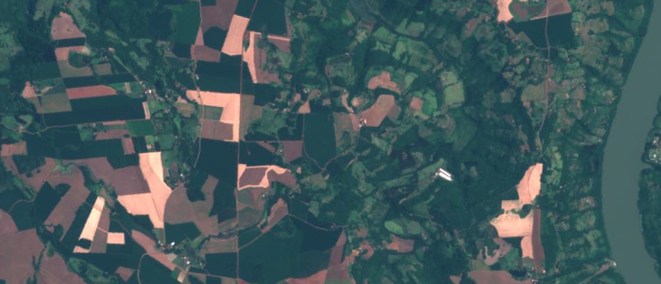 Area rural imagenada pelo Sentinel-2, 1:25.000, cores naturais
