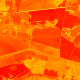 Spot 6 MS de 6 m de resolução, cálculo de NDVI de área rural no DF