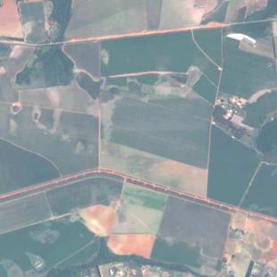 Spot 6 MS de 6 m de resolução, cores naturais de área rural no DF