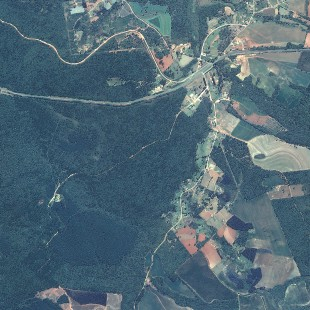 Kompsat 2, PSM, 1 m de resolução, área florestal de Teixeira Soares - PR