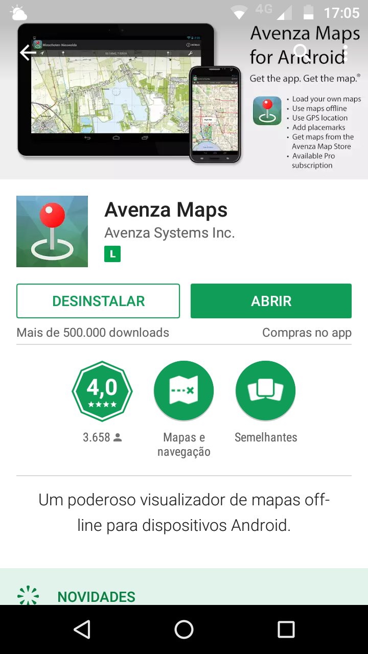 tela-do-avenza-maps-no-googe-play