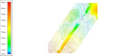 Vista 2D da nuvem de pontos com a classe solos
